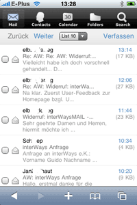 iPhone Webclient Screenshot